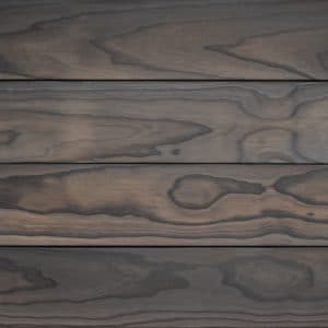 Charred accoya cladding swatch in finish Anthracite