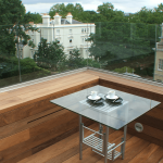 Ipe Exterpark Hardwood Decking used on a balcony