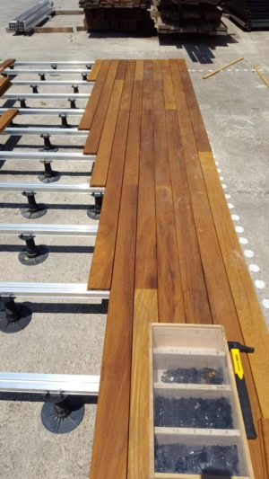 Iroko Exterpark Magnet hardwood decking installation