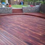 Kurupay Exterpark Hardwood Decking in a customers garden