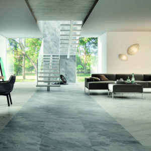 Ceramic flooring in a residential house