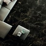 Anima Select interior marble-effect porcelain tiles used in a living room