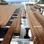 Kebony Exterpark Hardwood Decking being installed.