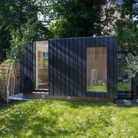 Shadow Shed Garden Pavilion Neil Dusheiko Architects blackened timber cedar London_UK