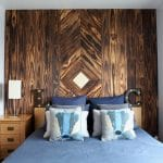 Tenki charred accoya cladding used in a bedroom