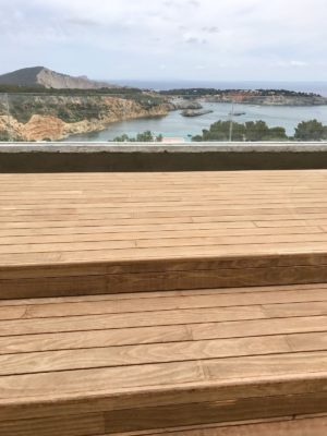 Kebony Exterpark Hardwood Decking on a balcony