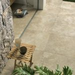 Tale Contro tiles used for a small garden patio