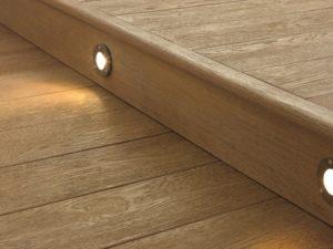 Millboard standard fascia board with lighting