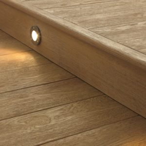 Millboard standard fascia board with lighting