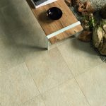 Eikon exterior tiles used in a garden in the finish Gea