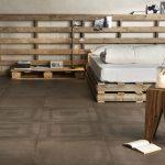 One porcelain tiles bedroom flooring