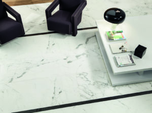 Anima select marble effect tiles in a boutique