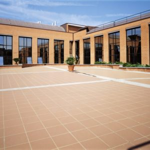 Granigliati tiles used in a commercial setting