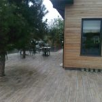 Millboard Vintage Decking next to house
