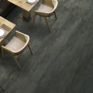 Trace tiles used in a restaurant