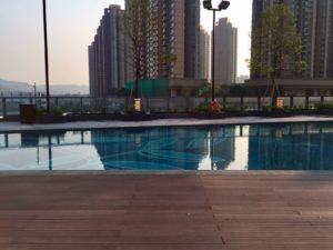 Exterpark Tech magnet used as pool decking