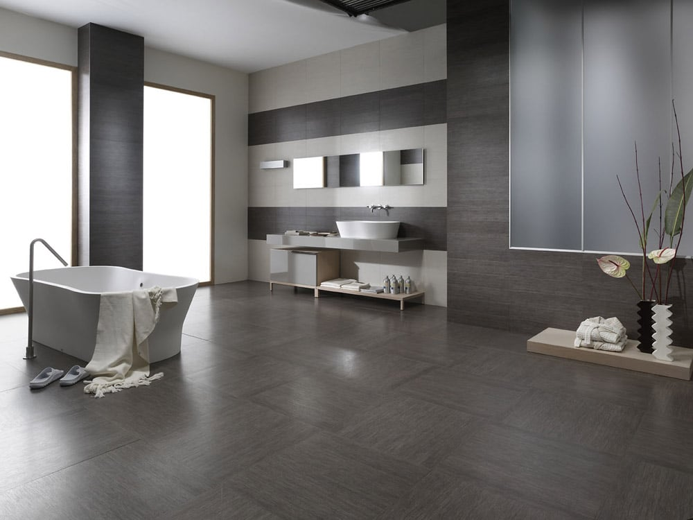 Interior Ceramic tiles Bagno used in a bathroom setting