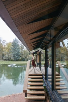 Iroko hardwood decking