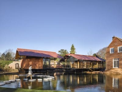 Stepping Stone House by Hamish and Lyons finished with Iroko wood