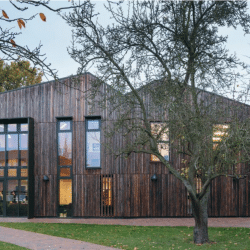Bishops Stortford college with Shou Sugi Ban cladding