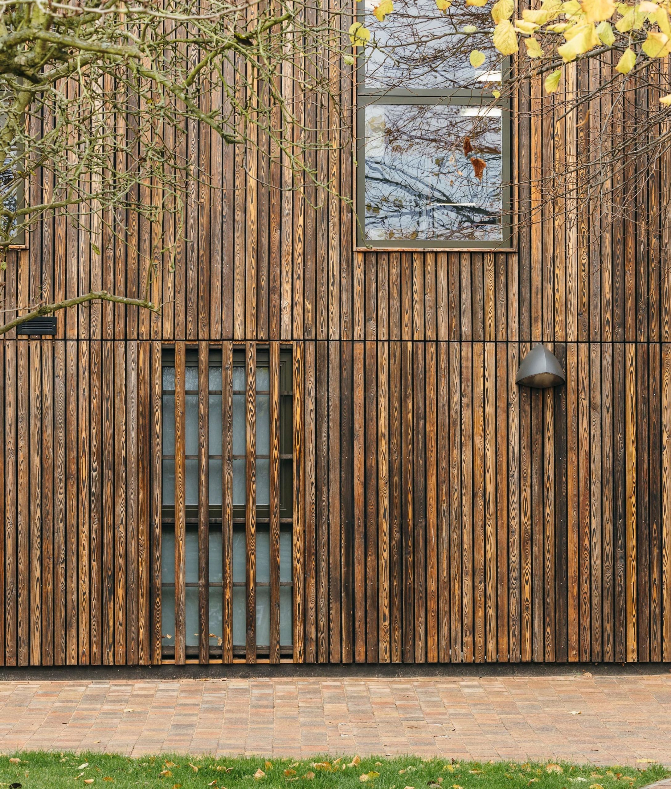 Historic Building in Bishop's Stortford College with Shou Sugi Ban cladding