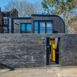 Shou Sugi Ban cladding used on a London house