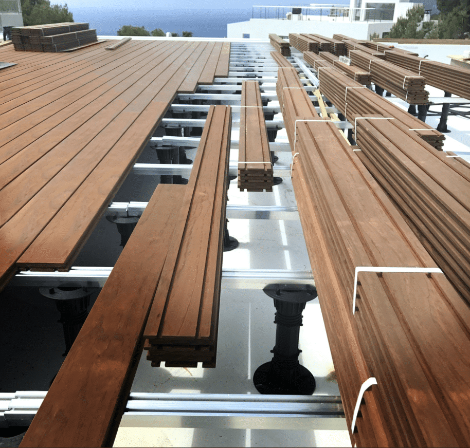 Kebony Hardwood Decking Used In Ibiza Exterior Solutions