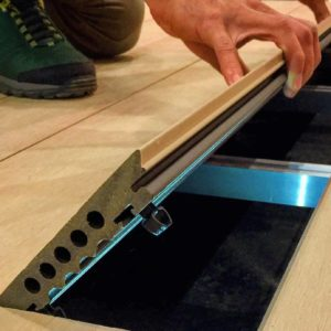 Magnet decking being laid