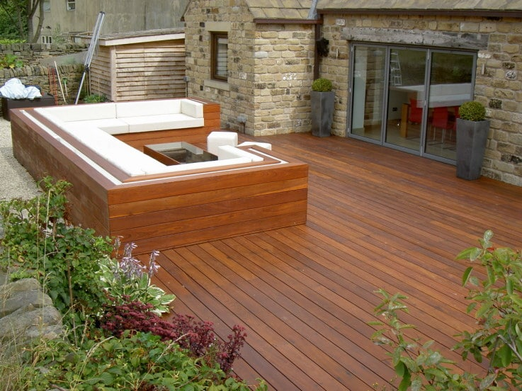 Owatrol D1 used to finish a deck with seating area