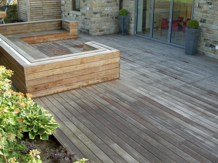 Owatrol Prepdeck used to clean a deck with seating area