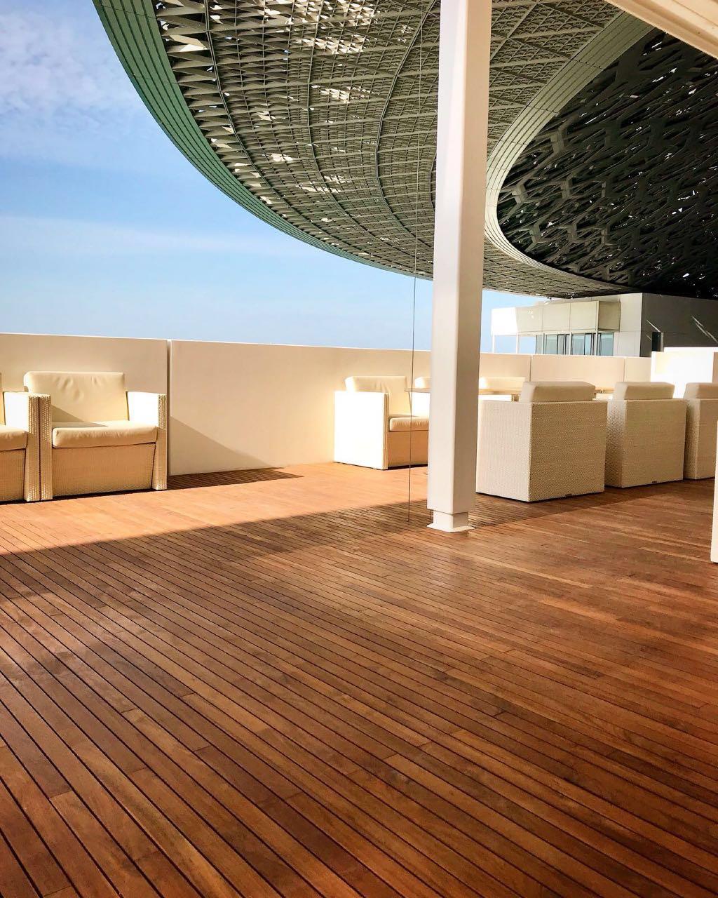 Dubai louvre hardwood decking