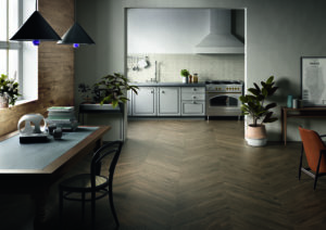 Arthis interior wood effect porcelain tile flooring