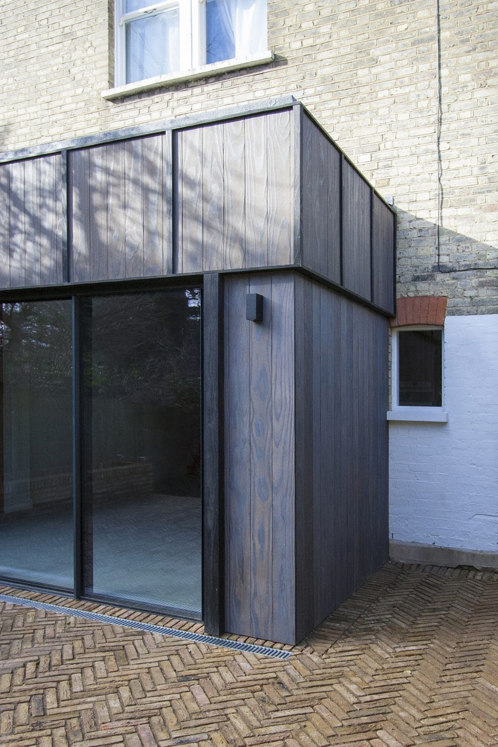 Charred Accoya Cladding used in house extension