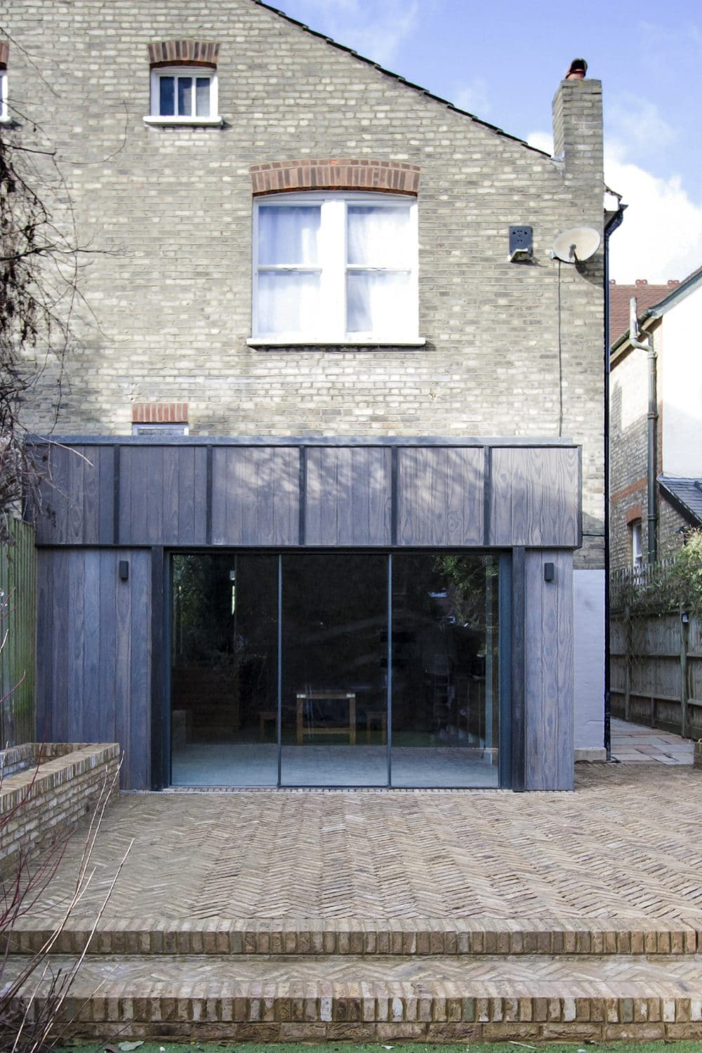 Back of house extension with charred Accoya cladding