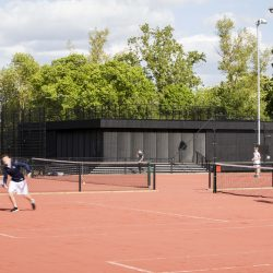 Eton College tennis pavillion with Shou Sugi Ban®