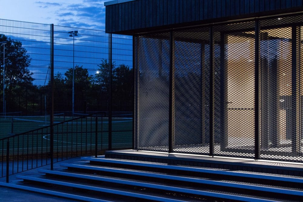 Architects transform Eton College Pavilion with Charred Timber Cladding