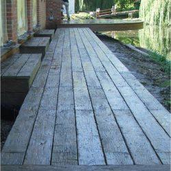 Exterior Decking Cantilivered Millboard boardwalk