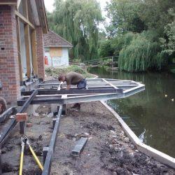 cantilevered decking