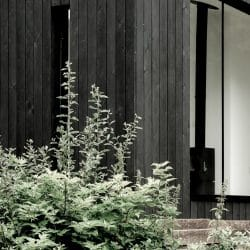 Close up of Koto Cabin with Charred Timber Cladding