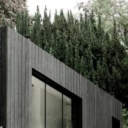 Rooftop of Koto Cabin with Charred Timber Cladding