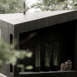 Koto Cabin in situ with charred cladding