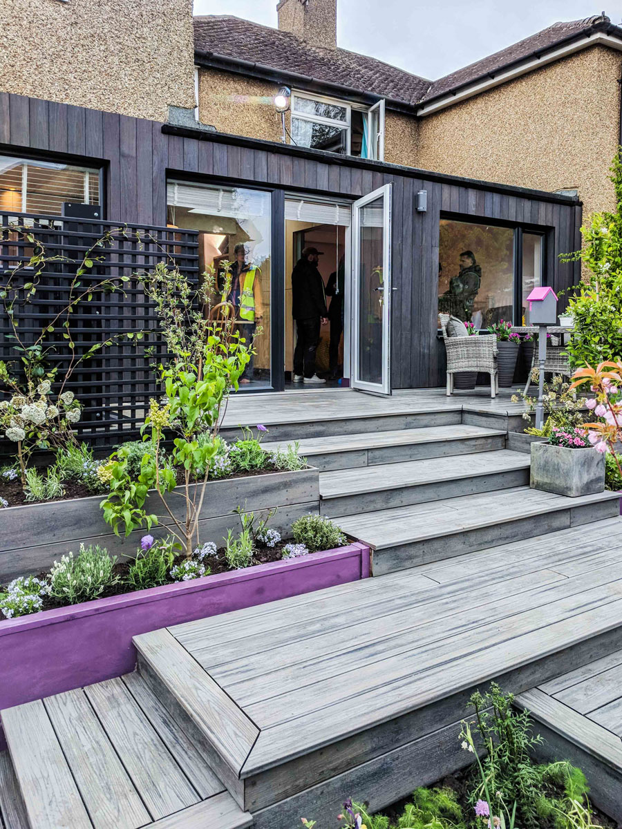 Yukari cladding used on extension for ITVs Love your Home and Garden