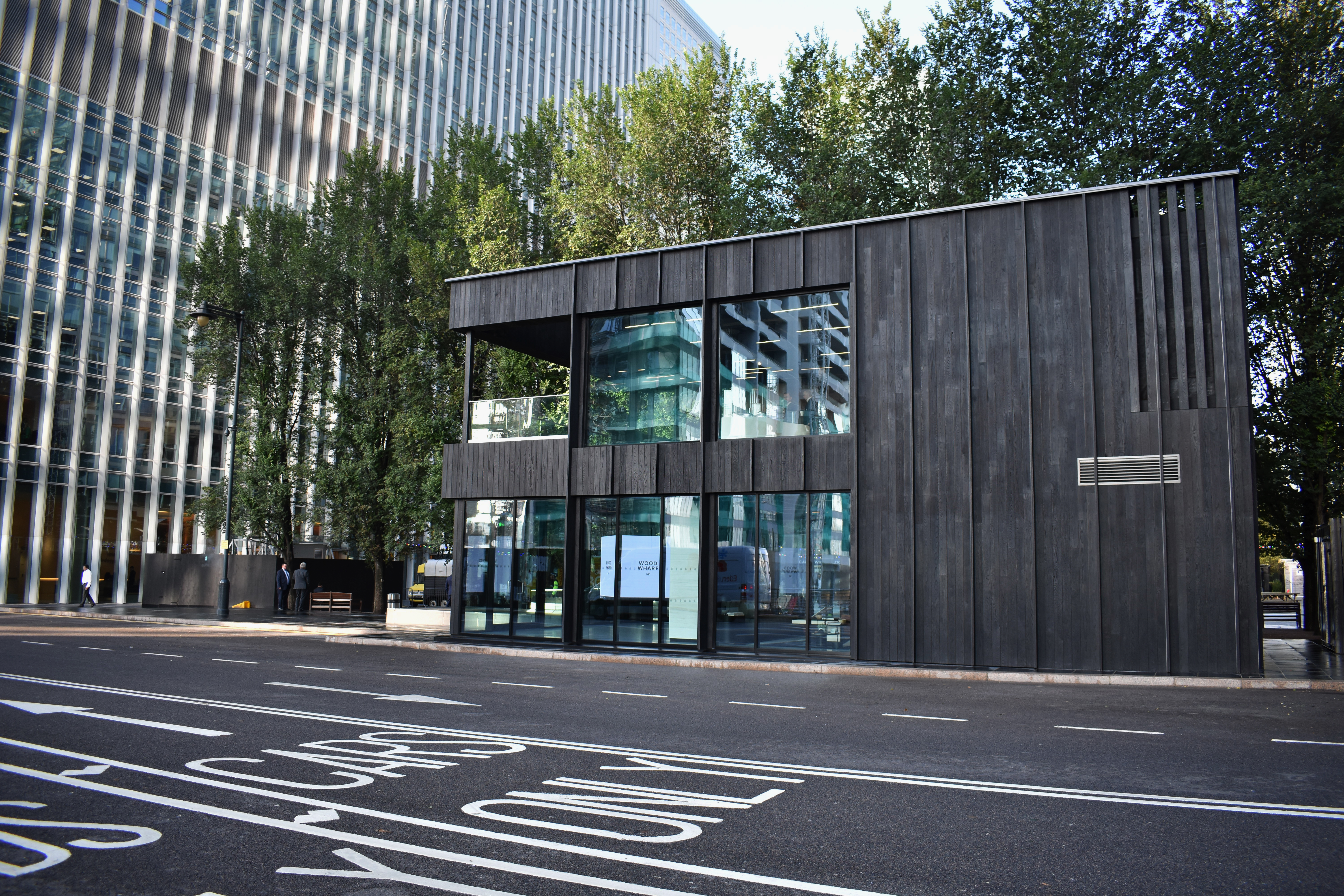Shou Sugi Ban® envelopes building in Canary Warf