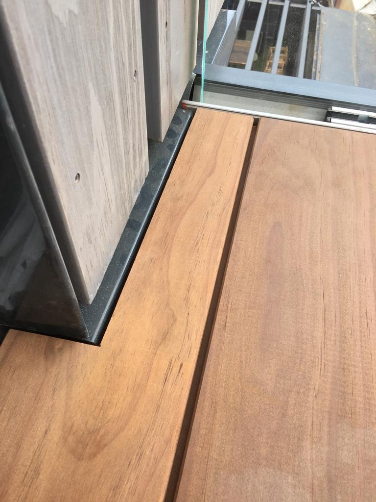 Kebony Magnet Decking laid