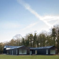 Charred Accoya Barn conversion daytime