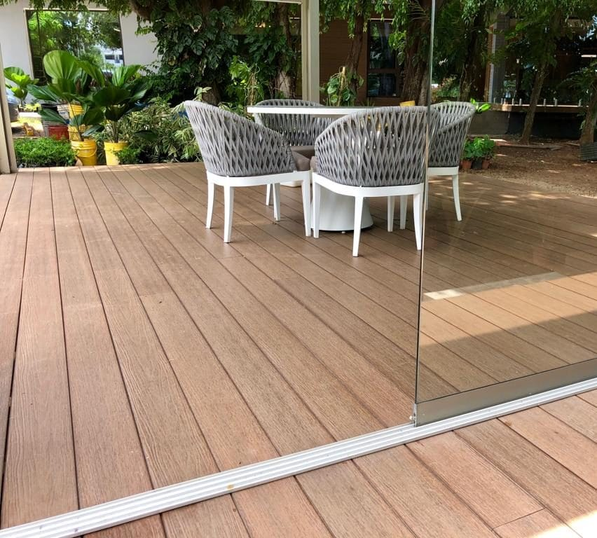natural composite decking terrace
