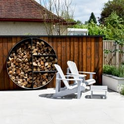Decorum.London garden design with natural stone