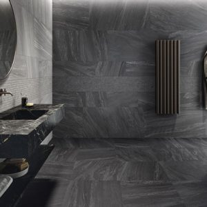 Clash tiles used in a bathroom setting