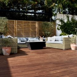 Kebony decking with garden furniture