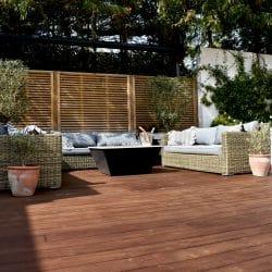 Kebony decking with garden furniture